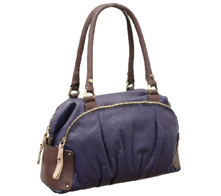 orYANY Tina Soft Pebbled Leather Satchel