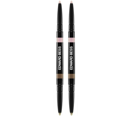 Edward Bess Set of 2 Fully Defined Dual Ended Brow Pencil