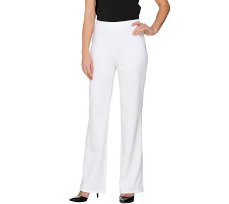 Liz Claiborne New York Regular Ponte Knit Flare Leg Pants