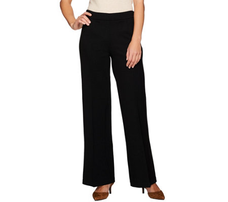 G.I.L.I. Regular Ponte Knit Wide Leg Trousers