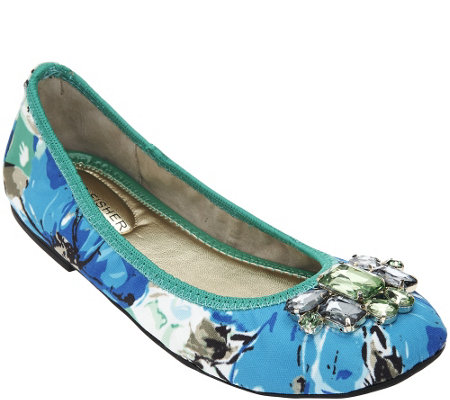 """As Is"" Marc Fisher Slip-on Flats with Jewel Accents - Cadassi"