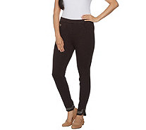 Quacker Factory DreamJeannes Regular Jeweled Curved Hem Legging - A280822