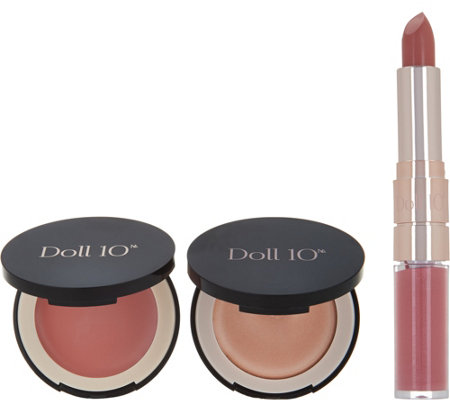 Doll 10 Nude Lip, Blush & Highlighter Power of Pretty Collection