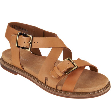 Clarks Artisan Leather Criss Cross Sandals - Corsio Bambi