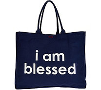Peace Love World Affirmation Canvas Tote - A298922