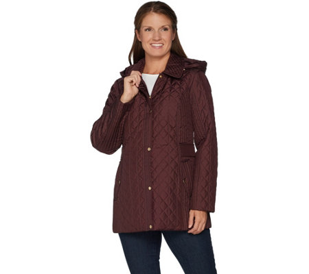 Susan Graver Quilted Jacket with Removable Hood