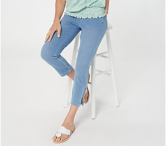 Belle by Kim Gravel Flexibelle Pull-On Cropped Jeans Regular