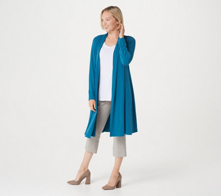 Every Day by Susan Graver Regular Liquid Knit Duster Cardigan