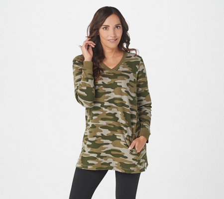 fd2577267c4 Denim   Co. Active Camo Printed French Terry Tunic w Pockets - Page ...