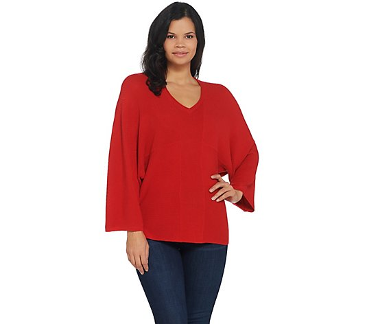 Laurie Felt Cashmere Blend V-Neck Sweater