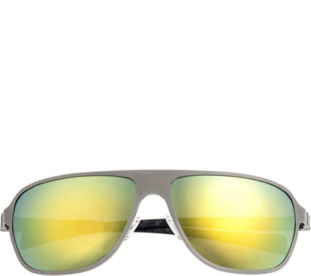 Breed Atmosphere Titanium and Carbon Fiber Gunmetal Sunglasse