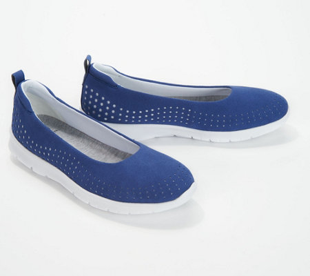 """As Is"" CLOUDSTEPPERS by Clarks Perforated Slip -On Shoes"
