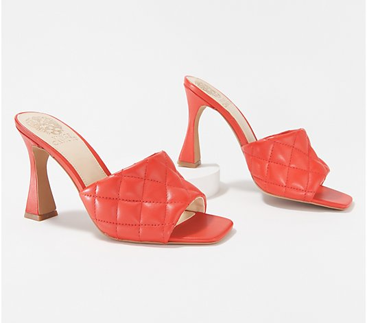 Vince Camuto Quilted_Leather Heeled Sandals - Reselm