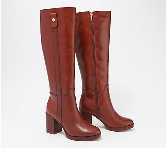 """As Is"" Franco Sarto Medium Calf Leather Tall Shaft Boots- Kendra"