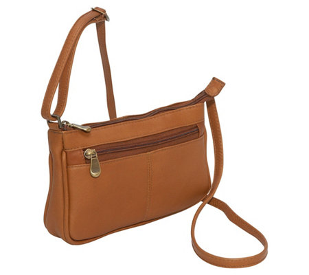 Le Donne Leather Top-Zip Mini Crossbody