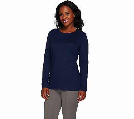 Liz Claiborne New York Essentials Crew Neck Long Sleeve Tee