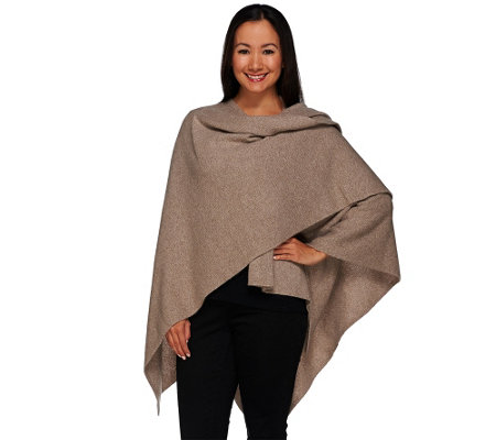 """As Is"" Isaac Mizrahi Live! 2-Ply Cashmere Wrap"