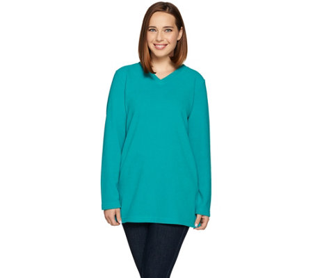 Denim & Co. Active Long Sleeve V-Neck Tunic with Pockets