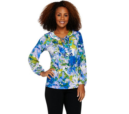Susan Graver Printed Liquid Knit Top