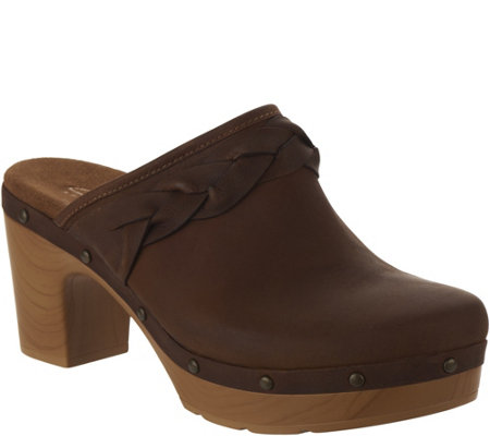 Clarks Artisan Leather Clogs - Ledella Meg