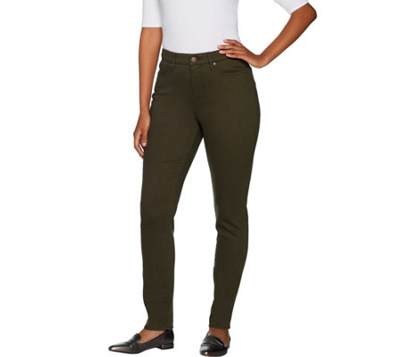 Martha Stewart Petite Peached Twill 5-Pocket Ankle Pants