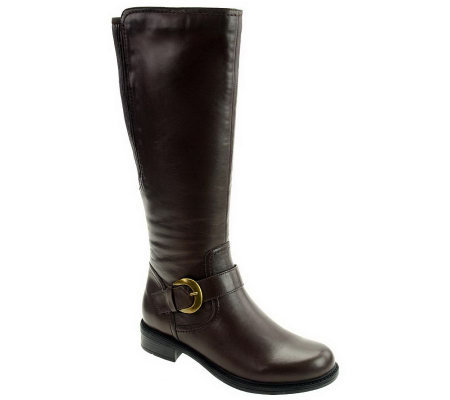 "David Tate Branson Knee High Leather Boots-18""Circumference"