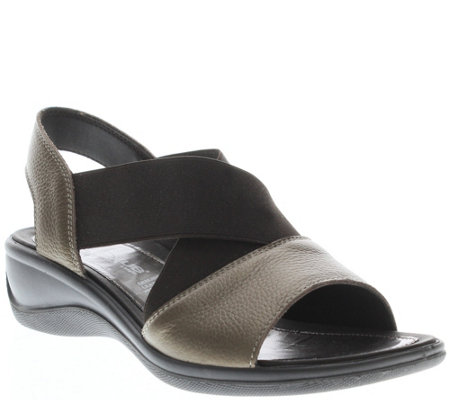 Flexus by Spring Step Leather Sandals - Emma