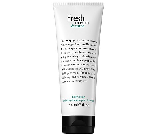 philosophy fresh cream and mint body lotion, 7oz