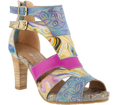 L'Artiste by Spring Step Leather Sandals - Brooke
