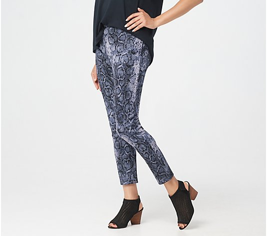 Women with Control Tall Printed Novelty Slim Leg Pants