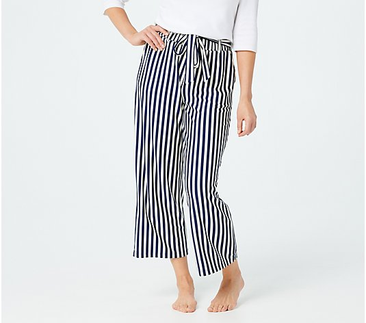 AnyBody Textured Knit Wide Leg Pants