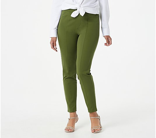 Isaac Mizrahi Live! Regular 24/7 Stretch Seamed Ankle Pants