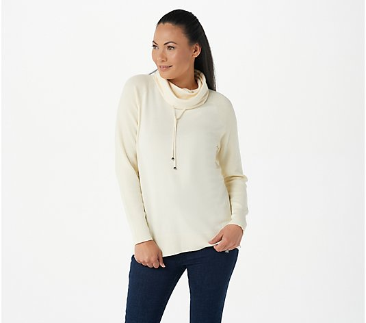 Attitudes by Renee Weekend Chic Waffle Trim Hooded Tunic