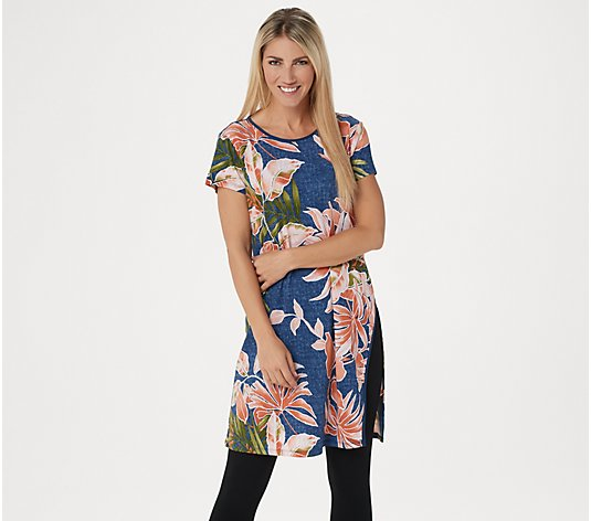 """As Is"" Attitudes by Renee Regular Como Jersey Duster Tunic"