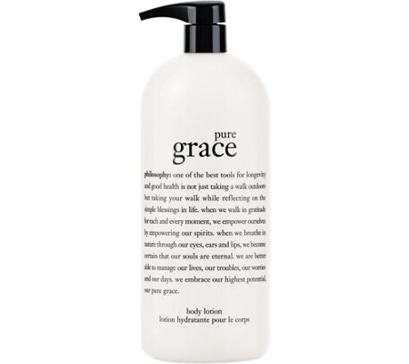 philosophy super-size pure grace perfumed body lotion 32oz.