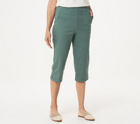 Denim & Co. Original Waist Stretch Capri Pants with Side Pockets