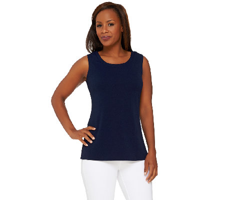 Susan Graver Passport Knit Scoop Neck Tank Top