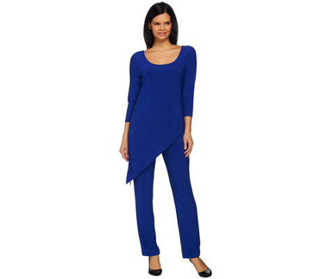 Attitudes by Renee Regular Asymmetric Hem Knit Jumpsuit