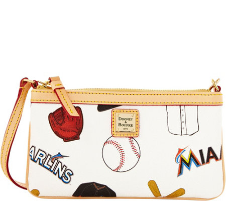 Dooney & Bourke MLB Marlins Large Slim Wristlet