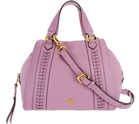 orYANY Pebble Leather Satchel- Elissa