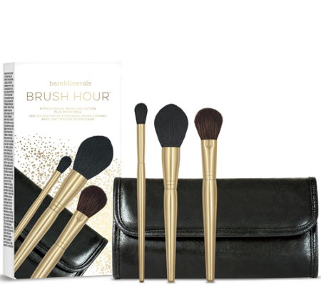 bareMinerals The Brush Hour 3-pc Brush Collection & Brush Roll