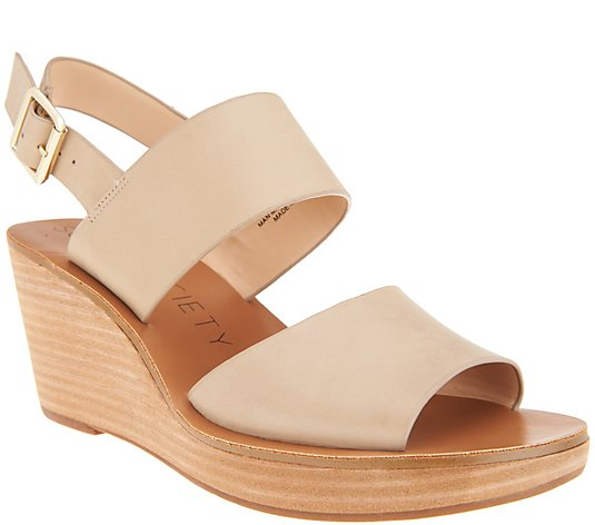 Sole Society Double Strap Wedges - - Pavlina