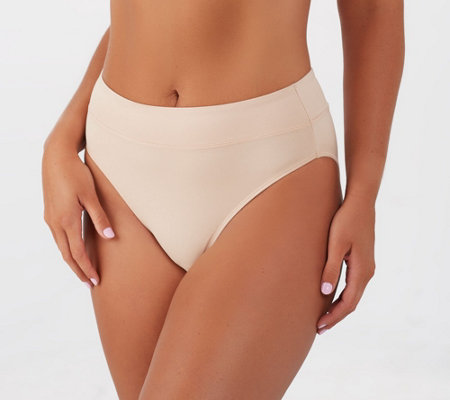 Breezies Set of 3 Body Soft Hi-Cut Panties