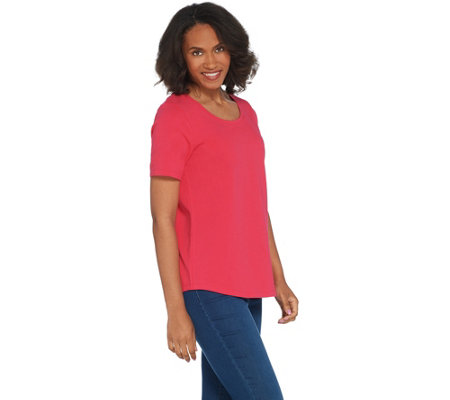 Martha Stewart Classics Short-Sleeve Scoop-Neck Knit Top
