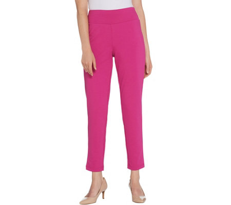 Bob Mackie Regular Pontichine Pull-On Ankle Pants