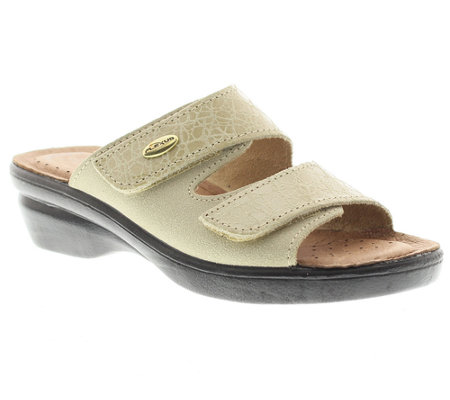 Flexus by Spring Step Quickstep Leather Slide Sandals