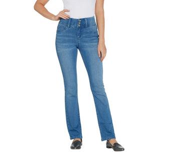 Laurie Felt Petite Curve Silky Denim Straight Leg Jeans - A343624