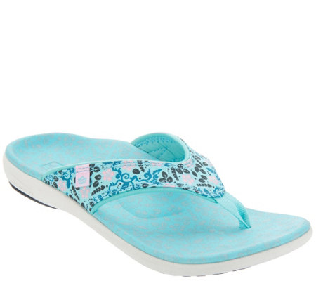 Spenco Orthotic Thong Sandals - Yumi Bloom