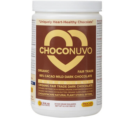 Andrew Lessman ChocoNuvo 66% Cacao Dark Chocolate 30 Servings