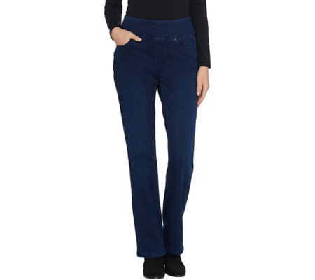 """As Is"" Belle by Kim Gravel Tall Flexibelle Boot-Cut Jeans"